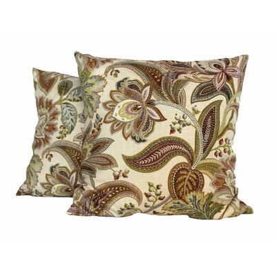 Jacobie Throw Pillow (Set of 2) Color: Natural