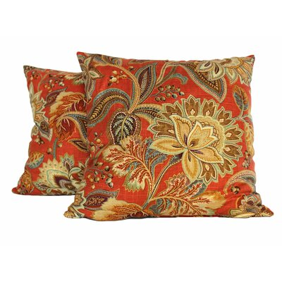 Jacobie Throw Pillow (Set of 2) Color: Pompeii