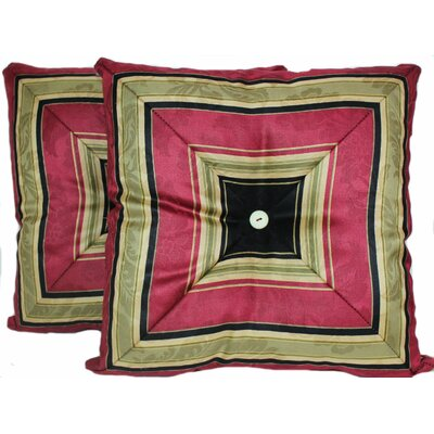 Nigel Stripe Mitred Throw Pillow Color: Onyx