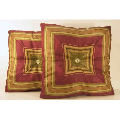 Nigel Stripe Mitred Throw Pillow Color: Ruby
