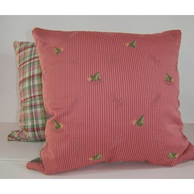 Ribbit 2 Piece Throw Pillow Set Color: Rose