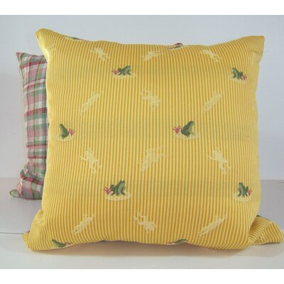 Ribbit 2 Piece Throw Pillow Set Color: Yellow