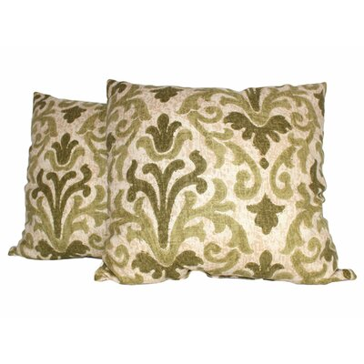 Tracery Throw Pillow Color: Jade