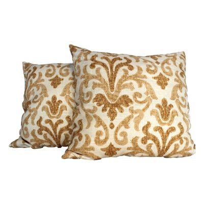Tracery Throw Pillow Color: Gold