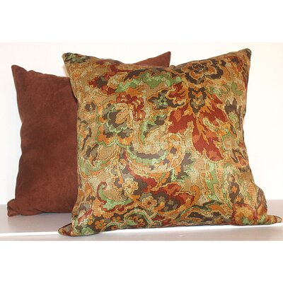 Fire Floral 2 Piece Throw Pillow Set