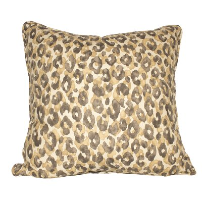 Snow Leopard Cotton Throw Pillow Color: Safari