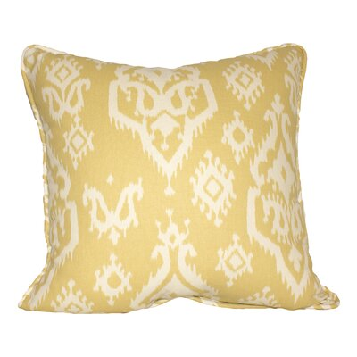 Raji 100% Cotton Throw Pillow Color: Saffron