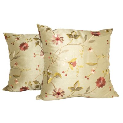 Paradise Garden Throw Pillow Color: Sage