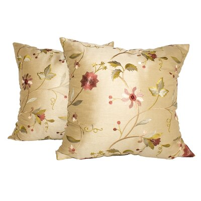 Paradise Garden Throw Pillow Color: Gold