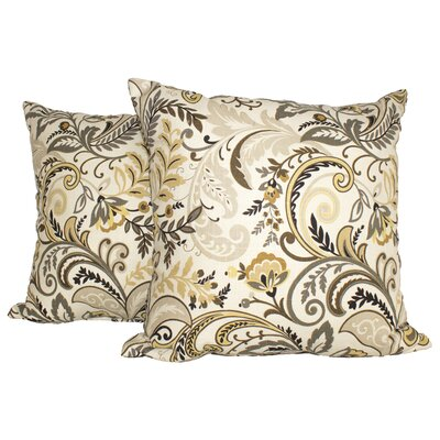 Pashmina Throw Pillow Color: Black