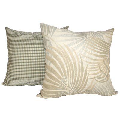 Dion Palm Leaves Throw Pillow