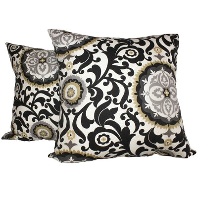 Samual 100% Cotton Throw Pillow Color: Onyx