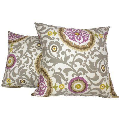 Samual 100% Cotton Throw Pillow Color: Sterling
