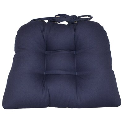 Dining Chair Cushion Fabric: Navy