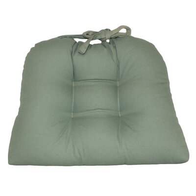 Dot Dining Chair Cushion Fabric: Green