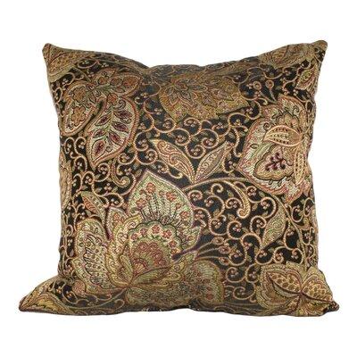 Sweetbriar Golden Scrolls Cotton Throw Pillow