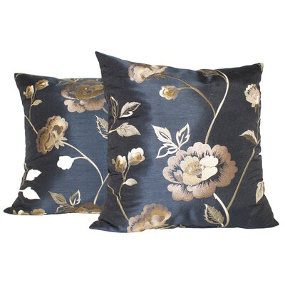 Lin Cotton Throw Pillow Color: Navy