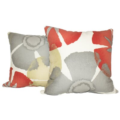 Ewing Precinda Coral Cotton Throw Pillow Color: Coral