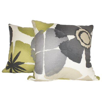 Ewing Precinda Coral Cotton Throw Pillow Color: Gray