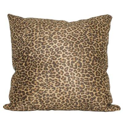 Gillian Leopard Sand Cotton Throw Pillow