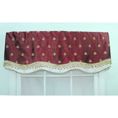 "RLF HOME Bumblebee Glory 50"" Curtain Valance - Color: Wine at Sears.com"