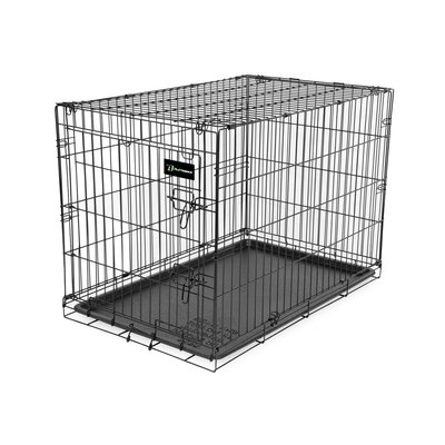 Wire Dog Crate Size: (24 H X 21 W X 30 L)