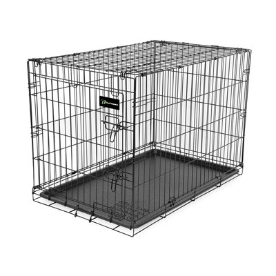 Wire Dog Crate Size: (31 H X 28 W X 42 L)