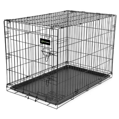Wire Dog Crate Size: (33 H X 30 W X 48 L)