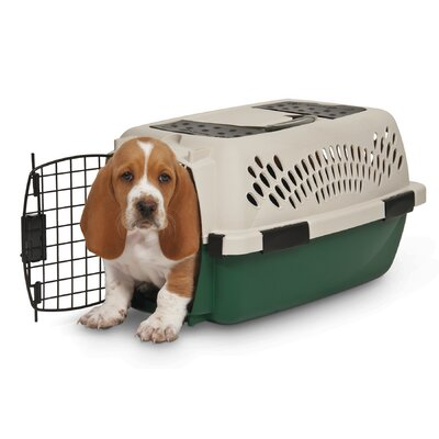 "Plastic Dog Crate/Carrier Size: 19"" (19"" H x 12.5"" W x 10"" L) 21791"