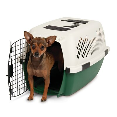 Plastic Dog Crate/Carrier Size: 24 (24H x 16.3 W x 14.8 L)