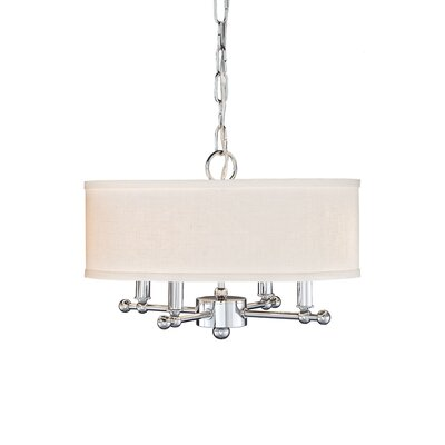4-Light Mini Pendant Type: Polished Chrome/Polish Linen