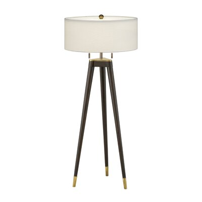 """Remington Lamp 30"""" H Table Lamp with Drum Shade - Shade Color: Anna Cream Rolled Edge at Sears.com"""
