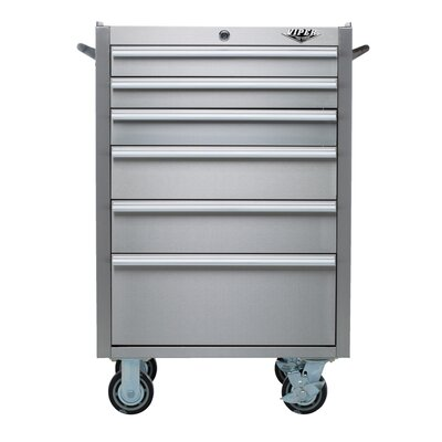 "Viper Tool Storage 26"" Wide 6 Drawer Bottom Cabinet - Color: Stainless Steel"