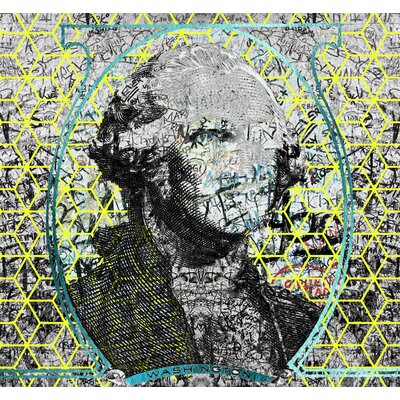 "Figurative Cubed George By Jordan Carlyle Graphic Art Size: 48""x 48"""