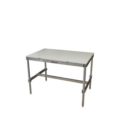 Aluminum I Frame Prep Table Size: 34 H x 72 W x 30 D