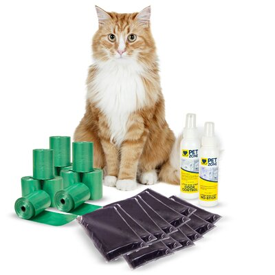 Smart Scoop Cat Litter Box Accessories Kit (4 Pack)