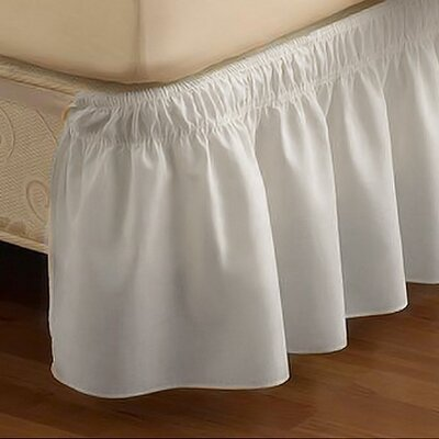 EasyFit  Wrap Around Solid Ruffled Bed Skirt Color: White, Size: Twin / Full