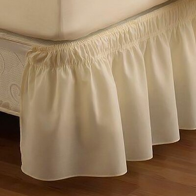 EasyFit  Wrap Around Solid Ruffled Bed Skirt Color: Ivory, Size: Twin / Full