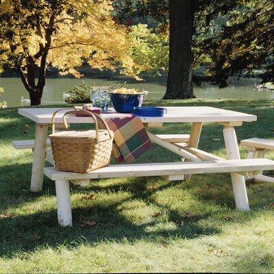 Cedar Log Picnic Table Finish: Natural