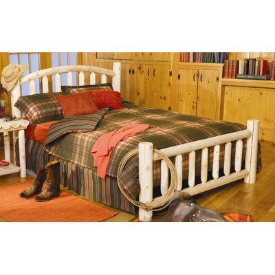 Log Style Beds Panel Bed Size: Double