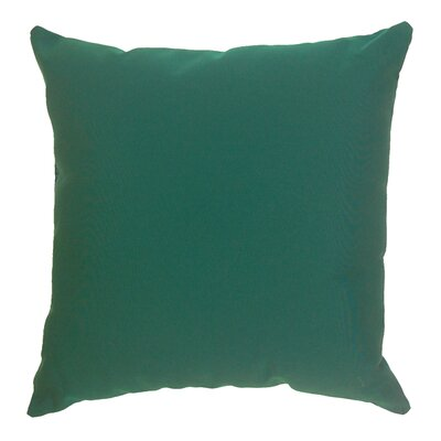 Toss Accent Indoor/Outdoor Sunbrella Throw Pillow Fabric: Hunter Green