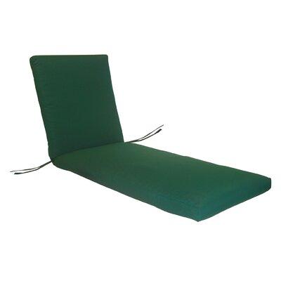 Rustic Cedar Chaise Lounge Cushion - Fabric: Blue Striped