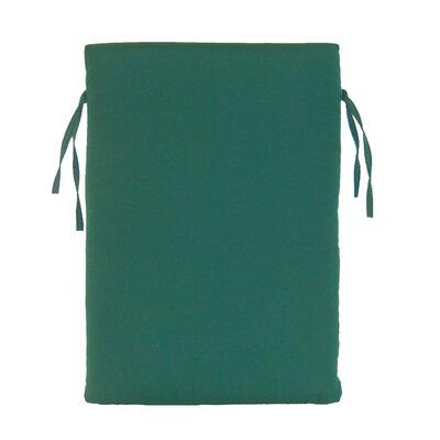 Rustic Cedar High Back Chair Cushion - Fabric: Green/White Striped