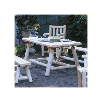 Classic Cedar Farmers Table and Bench Set Finish: Natural
