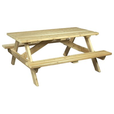 Square Cedar Wood Picnic Table Finish: Clear Coat