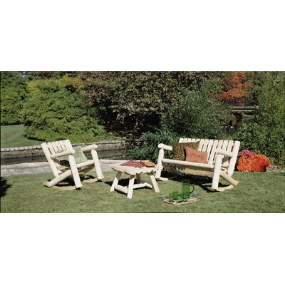 Log Cedar 3 Piece Rocker Seating Group