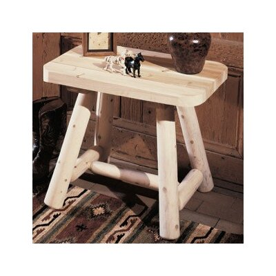 Log End Table Finish: Natural