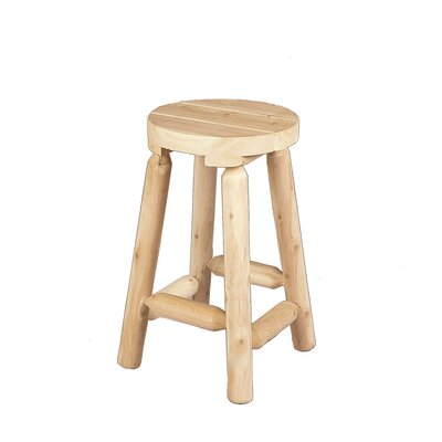 24 inch Bar Stool Finish: Clear Coat