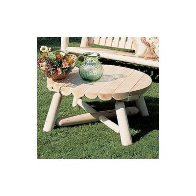 Round Cedar Coffee Table Table Size: 36, Finish: Natural