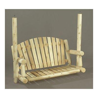 Rustic Cedar Porch Swing - Size: 5' W